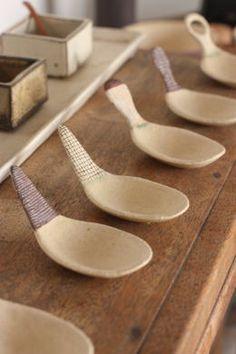 ceramic cup/spoon