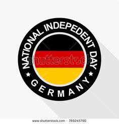 National indepedent day of germany stamp design