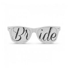 Purchase BRIDE Wedding Retro Party Sunglasses from Party Shades on OpenSky. Share and compare all Accessories. Bride With Glasses, Thing 1, Bachelorette Party Favors, Beach Bachelorette, Black Bride, Retro Party, Wayfarer Sunglasses, Wedding Bride, Wedding Ideas