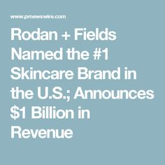 Why am I passionate about my company? Big announcement this morning that Rodan+Fields is the #1 skincare brand in all price points and all channels in the United States. MY company!!! We have now climbed over all the brands in department stores and drug stores. Why? Because our products deliver guaranteed results that work.  It's time to ditch the bar of soap, Oil of Olay or Clinique and give Rodan+Fields a try. You won't be disappointed!