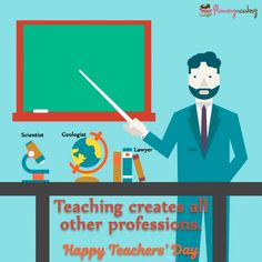 On this Teachers' day say thank your teachers for what you are today.