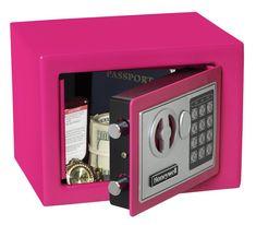 Security Safe, Wireless Home Security Systems, Security Gadgets, Safe Vault, Vault Doors, Digital Lock, Electronic Lock, Concealed Hinges, Pink Design