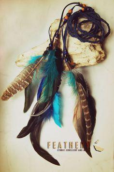 braided boho hairband with feathers