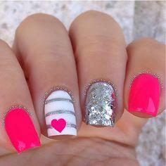 awesome new trendy nail art designs - Real Hair Cut Hair And Nails, My Nails, Shellac Nails, Pink Gel, Nail Pink, Pink Summer Nails, Pink Nail Designs, Nails Design, Toe Designs