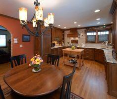 Dark Orange Kitchen 7124 golfview ct, yorkville, il 60560 | orange kitchen, wall