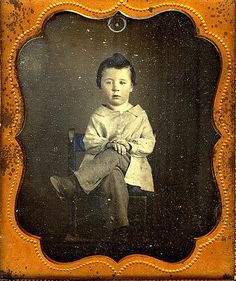 I love this pose! ca. 1850s, [daguerreotype portrait a boy posed with sass]