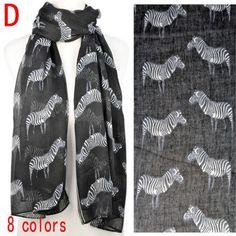 Best Women Summer Accessories Zebra Animal Printing Fashion Scarf, NL-1864