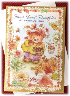 ONE Vintage Hallmark Mary Hamilton For A Sweet Daughter At Thanksgiving Card