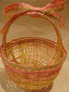 string egg basket, i was feeling retro.  made a bunch of string eggs :)