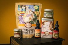 Postpartum Gift Set for breastfeeding moms.  A perfect baby shower gift!  The gift set comes with: Let There Be Milk Breastfeeding Supplement- Nursing Nectar Breastfeeding Tea-Postpartum Afterbirth Sitz Bath-  Nurtured Mother Afterbirth Contraction Relief