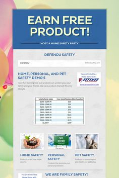 Earn Free Product! Home Safety, Fun Learning, Have Fun, Education, Free, Safety At Home, Teaching, Onderwijs, Studying