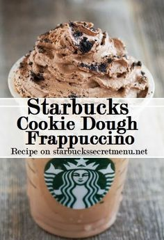 Starbucks Secret Menu: Cookie Dough Frappuccino: Cinnamon Dolce Creme Frappuccino Add mocha syrup pump tall, 2 pumps grande, 3 pumps venti) Java chips blended in Top with cookie crumble and chocolate whip Bebidas Do Starbucks, Starbucks Secret Menu Drinks, Starbucks Frappuccino, Starbucks Coffee, Starbucks Hacks, Starbucks Cookies And Cream Frappuccino Recipe, Starbucks Order, Healthy Starbucks Drinks, Gourmet