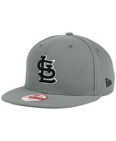 best sneakers 5d3fb f73d1 New Era St. Louis Cardinals Gray Black White 9FIFTY Snapback Cap Cardinals  Hat, St