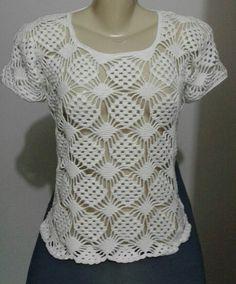 Crochet Shirt, Crochet Top, Crochet Kitchen, Blouse Dress, Chrochet, Summer Tops, Yarn Crafts, Crochet Clothes, Summer Outfits