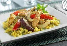 Swanson's Thai Ginger Chicken with Yellow Jasmine Rice Recipe.