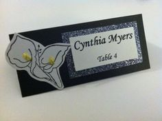 Calla lily place cards for bridal showers and by Allthetinydetails, $0.50