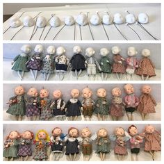 Polymer Clay Dolls, Ornaments Design, Tiny Dolls, Paperclay, Miniture Things, Doll Crafts, Fabric Dolls, Miniature Dolls, Handmade Toys