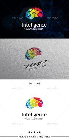 Inteligence Brain Logo Template PSD, Vector EPS, AI #design #logotype Download: http://graphicriver.net/item/inteligence-brain-logo/10696897?ref=ksioks