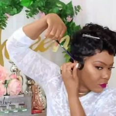 Catch her beautiful slay for Afsister SALLY Wig💃💃 This is definitely excellent work for Pixie Cut Customizing💇💇 Wig: Sally👸👸 Natural Waves Hair, Pixie Cut Wig, Affordable Wigs, 100 Human Hair Wigs, Thing 1, 360 Lace Wig, Hair Density, Womens Wigs, Pixie Hairstyles