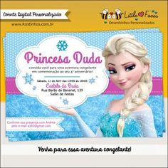 Convite Frozen Disney Para Imprimir