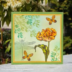 Art Journey Stamps: Tulips Twig with waterdrops Twig with waterdrops small Dragonfly Butterfly Cards, Baroque, Tulips, Stamps, Art Gallery, Paper Crafts, Journey, Artwork, Flowers