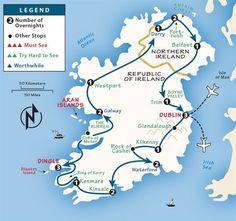 travel tip road trip Ireland Itinerary: Where to Go in Ireland by Rick Steves Ireland Travel Guide, Ireland Map, Galway Ireland, Ireland Vacation, Honeymoon Ireland, Ireland Landscape, Scotland Travel, Scotland Trip, Future Travel