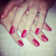 Polkadot nail art <3 simple but cute!