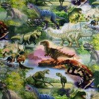 dinosaurus tricot bambiblauw
