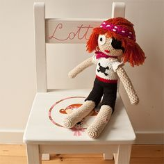 crochet doll Pirate Girl Lotta - Wonderfully Unique