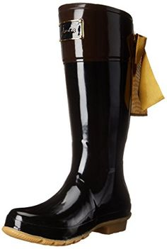 Joules Womens Evedon Rain Boot Black 7 M US >>> To view further for this item, visit the image link.