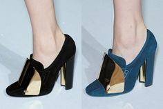 Yves Saint Laurent Spring 2012 mirrored loafers (Cardinal loafer pumps)