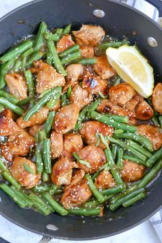Pizza Shapes, Honey Lemon Chicken, Chicken Green Beans, Stir Fry Dishes, Main Dishes, Healthy Summer Recipes, Nutritious Breakfast, Green Bean Recipes, Healthy Cooking