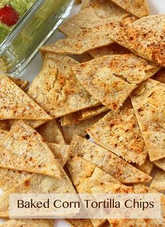 Homemade Corn Tortilla Chips... DIY has never been so easy!!  Corn tortillas toast up into some of the best chips you've ever had!  So much better than what you get at the store... #score !