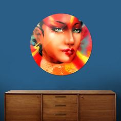 Discover «Femme Fatal», Exclusive Edition Disk Print by Joe Brockerhoff - From 55€ - Curioos
