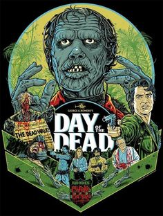 George A. Romero's Day Of The Dead Movie Poster Art.