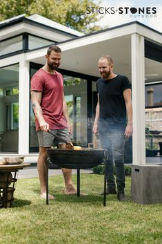 An Aussie #BBQ is the perfect time to catch up with your mates and there's nothing like that charcoal flavour (and that beautiful sizzle) you get from a barbie.  In our collaboration with Tim and Kyle MKR the genius behind the popular food truck CAROclub we cooked up some delicious recipes you can try on our #Kadai range. The churrasco steak, zesty salsa verde, marinated jerk chicken and charcoal grilled vegetables will definitely be crowd pleasers. #firepits  #outdoorcooking Popular Food, Popular Recipes, Bbq Cooking Utensils, Aussie Bbq, Jerk Chicken, Salsa Verde, Grilled Vegetables, Delicious Recipes, Yummy Food
