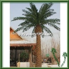 Large metal outdoor palm tree | See larger image