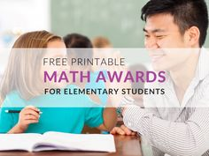 Celebrate Math Achievements– 6 Free Printable Awards for Students Multiplication Facts, Math Facts, Student Rewards, Classroom Behavior, Math Practices, Basic Math, Group Work, Teacher Favorite Things, Math Resources