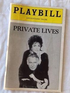 1983 Elizabeth Taylor Richard Burton Private Lives Playbill John Cullum K Walker