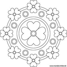 Mandala Vorlage für Senioren mit Blumen Spring Coloring Pages, Coloring Book Art, Colouring Pics, Doodle Coloring, Mandala Coloring Pages, Mandala Art Lesson, Mandala Painting, Mandala Design, Mandala Nature