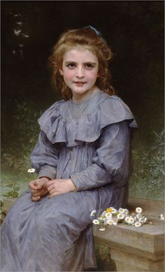 This dress.  This color.  This innocent child. No.   Paquerettes-Daisies-1894