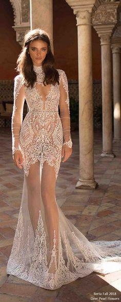 berta fall 2018 long sleeves wedding dresses BG6I6623-1 #wedding #weddingdress #weddingideas #deerpearlflowers #dpf ❤️ http://www.deerpearlflowers.com/long-sleeves-wedding-dresses/
