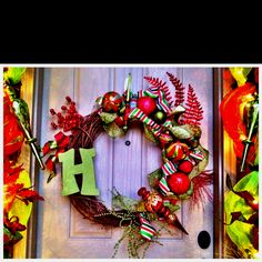 Christmas grapevine wreath!