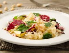 Sauerkraut-Radicchio-Salat mit Apfel-Dressing Sauerkraut, Vegan, Potato Salad, Potatoes, Pasta, Ethnic Recipes, Food, Glamour, Side Dishes