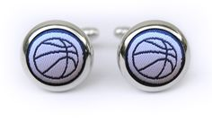 This unique handmade creation is the perfect way to bring your suit to life. We are huge fans of ladies in French cuffs too! Gifts For Sports Fans, French Cuff, Cufflinks, Basketball, Navy, Unique, Handmade, Accessories, Fashion