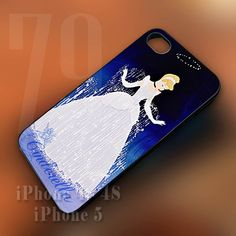 Disney Princess Cinderella Movie Logo case for iPhone 4/4s/5/5s/5c, iPod 4/5, Samsung Galaxy S2/S3/S4/Note, HTC One Cover