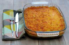 Hachis parmentier de pommes de terre au boeuf et carottes, gratiné au cheddar