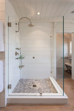 Create a tile look on your shower walls in corian without the hassle of grout lines