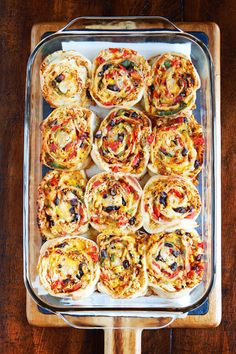 Southwestern chicken and pizza roll ups