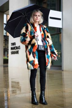 Multi Faux fur coat | autumn fashion | autumn style | style inspiration | streetstyle